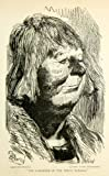 1893 Wood Engraving Gustave Dore Caricature Art