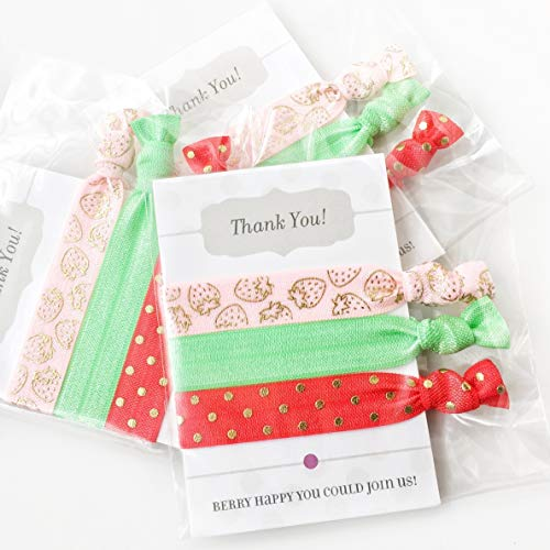 Strawberry Party Favors - Hair Ties (5 -