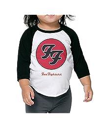 Foo Fighters Logo Kids 3/4 Raglan Baseball T Shirts