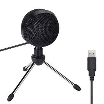 Amazon.com: USB Studio Condenser Microphone with Tripod ...