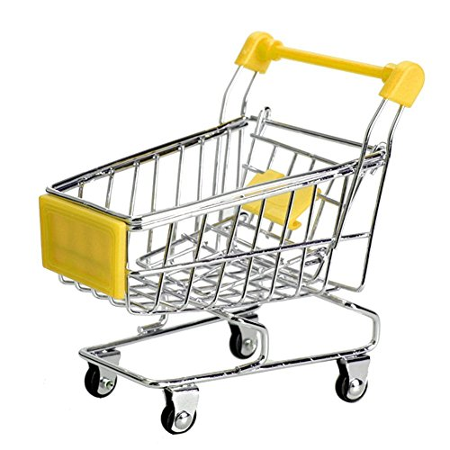 MagicW Mini Shopping Cart Supermarket Handcart Shopping Utility Cart Mode Storage Toy Novelty Carriage pen holder