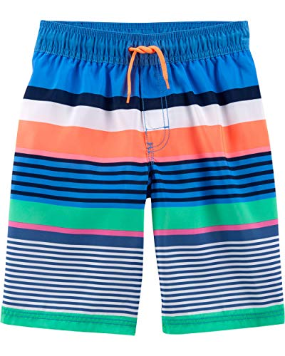 Osh Kosh Little Boys' Swim Trunks, Multi Stripe, 7
