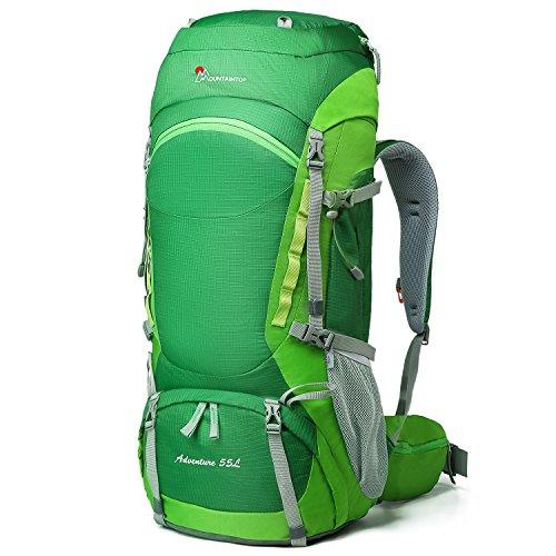 Coverture Avec À Pour De voyage 65l Vert Randonnée Au Camping sac Dos pluie Étanche Mountaintop Sac 17Snxq7O