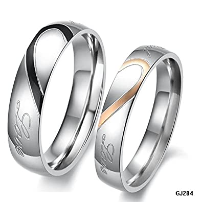 K Design His And Hers Promise Ring Sets Fashion Korean Couple