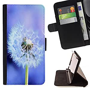 Super Marley Shop - Leather Foilo Wallet Cover Case with Magnetic Closure FOR Sony Xperia Z1 M51W Z1 mini D5503- Dandelion