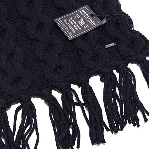 Woolrich Woman 1065w Wool Sciarpa Donna Scarf Blu Blue 1Z8r1qwP