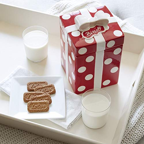 Biscoff Cookies with Limited-edition Biscoff Polka Dot Cookie Jar (Limited Edition Cookie Jar)