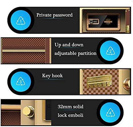 事務用品用の45cm小型金庫、家庭用ロッカー用の全鋼製指紋パスワード、頑丈な厚いドアパネル