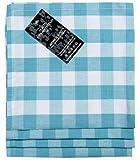 Homescapes - lot de 4 serviettes de table en coton 100 % à carreaux bleus et blancs