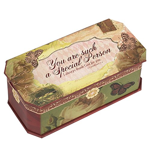 Special Person Belle Papier Petite Musical Jewelry Box with Vintage Finish Plays Amazing Grace (Belle Musical Jewelry Box)