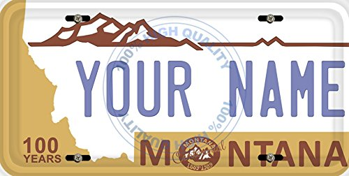 BleuReign(TM) Personalized Custom Name Montana State Car Vehicle License Plate Auto Tag (ALL STATES AVAILABLE) ()