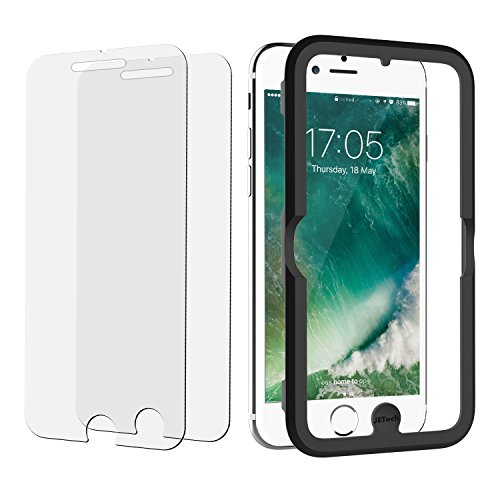 JETech 2-Pack iPhone 7/6s/6 Plus Tempered Glass Screen Protector Film with Easy-Installation (1009 Glasses)