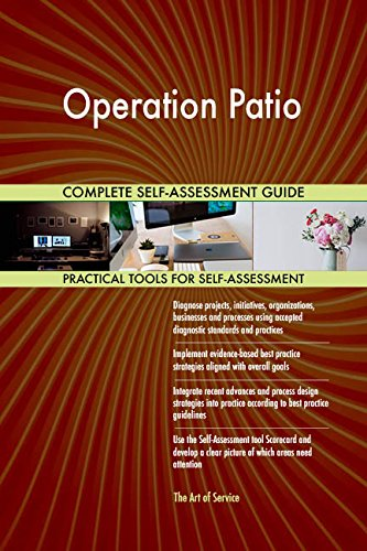 Operation Patio Toolkit: best-practice templates, step-by-step work plans and maturity diagnostics (Best Patios)