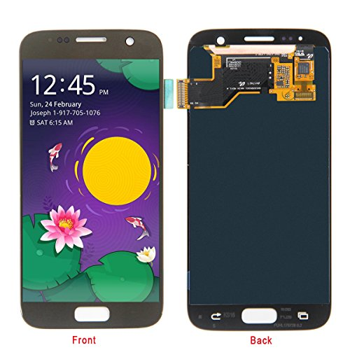 Price comparison product image HJSDtech LCD Display Screen Touch Screen Digitizer Assembly Replacement for Samsung Galaxy S7 SM-G930 (Gold)