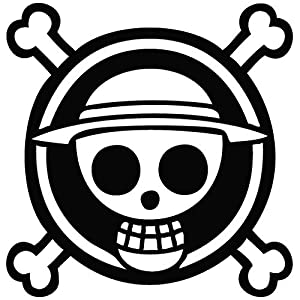 Amazon.com: One Piece Luffy Flag Black Sticker Decal