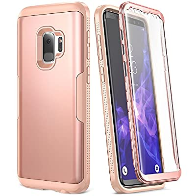 Galaxy S9 Case, YOUMAKER Full Body with Built-in Screen Protector Heavy Duty Protection Shockproof Slim Fit Full Body Case Cover for Samsung Galaxy S9 5.8 inch (2018 Release)