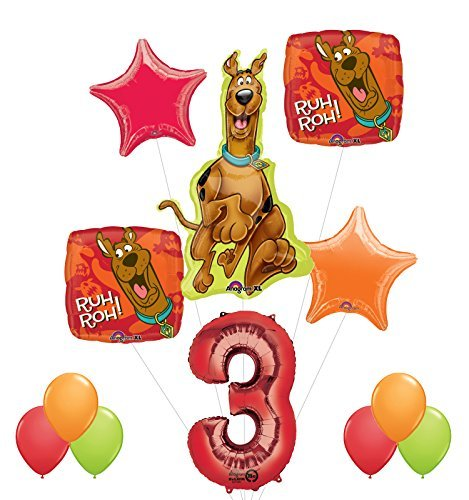 Mayflower Products Scooby Doo 3rd Birthday Party Supplies and Balloon Decorations