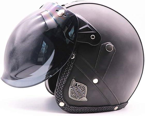 SGLL Cascos Moto Bicicleta De Montaña Casco Harley Casco De