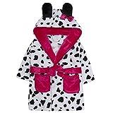Mini Kidz Dalmatian Dressing Gown Lounge Coat Hooded Plush Fleece Design (4-5 Years)