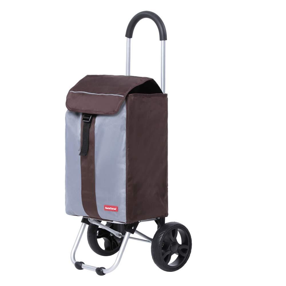 ショッピングトロリー、折りたたみトロリーショッピングカート、ポータブルスモールカート食料品ショッピングカート、荷物カート (色 : 1001) B07S9F6MZW 1001