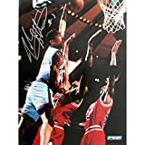 Steiner Sports NBA John Starks Close up Dunk Autographed 8-by-10-Inch Photograph