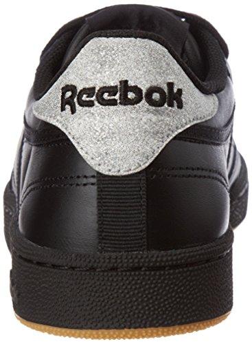 Reebok Club C 85 Diamond, Zapatillas Deportivas Para Interior Mujer Multicolor (Black/gum)