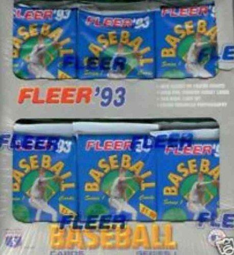 1993 Fleer Baseball Cards Series 1 Jumbo Box
