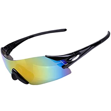 Elegante Gafas de Sol Ciclismo Polarizadas Gafas Deportivas Anti - UV Contra el viento Súper Liviana