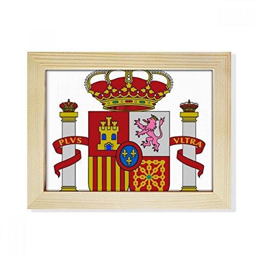 DIYthinker Spain Europe National Emblem Desktop Wooden Photo Frame Picture Art Painting 6x8 inch by DIYthinker