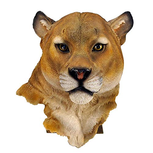 Kathleen0 Wall Ornament Door Lifelike Restaurant Synthetic Resin 3D Animal Head Cafe Decoration Home Mounted om Hanging Art(Leopard) (Statues Leopard)