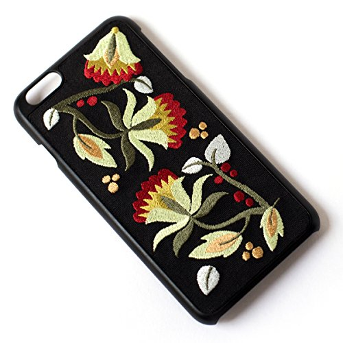 Phone Case Embroidered (Tech Candy Better Off Thread Embroidered iPhone 6 Plus 6+ iPhone 7 Plus 7+ iPhone 8 Plus 8+ Phone Case Protective Durable Pretty Designer Girls Teenagers Womens Shock Absorbing Beautiful Floral Gorgeo)