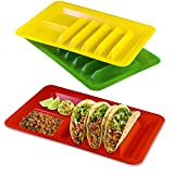 3 Pack Taco Holder, Colorful Taco Plates