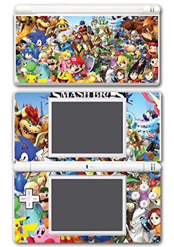 Lite Nintendo Mario Bros New Super Ds (Super Smash Bros Melee Brawl Mario Pikachu Yoshi Mega Man Zelda Sonic Metroid Video Game Vinyl Decal Skin Sticker Cover for Nintendo DS Lite System)