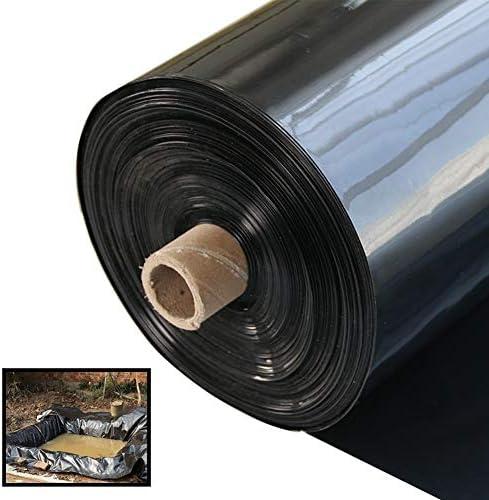 GDMING 人工池用透湿防水シート、 プールライナー、 池ライナー、 30代 (0.3mm厚) 池の皮、 防水 耐候性 PVCメンブレン、 ために ガーデンプール ルーフ 浸透防止 、カスタマイズ可能 (Color : Black, Size : 10x20m)