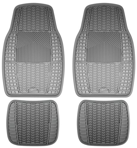 Custom Accessories Armor All 78896 4-Piece Grey Heavy Duty Rubber Floor Mat