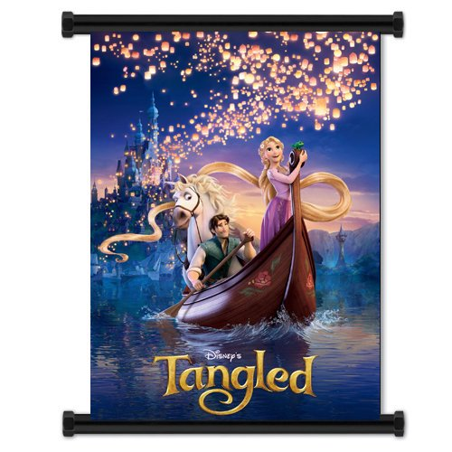 Tangled Movie Fabric Wall Scroll Poster  Inches