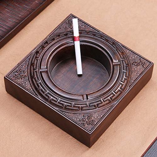 灰皿 , ホームライフ灰皿 贈り物を切るウッドフラットエボニーは、創造的な喫煙灰皿の贈り物になることができます