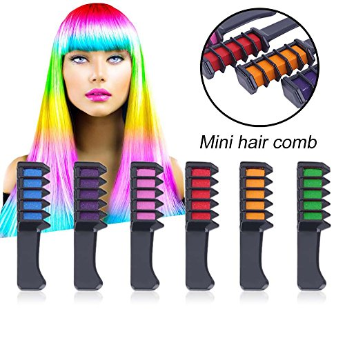 6PCS/SET Mini Disposable Professional Crayons For Hair Color