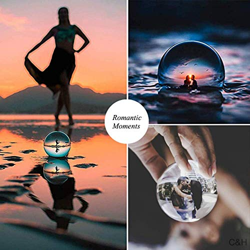 JIHUI Crystal Ball Photography Lensball, K9 Crystal Ball Clear 3-1/5'' (80mm) with Crystal Stand and Pouch for Decorative Photography Prop by JIHUI (Image #7)