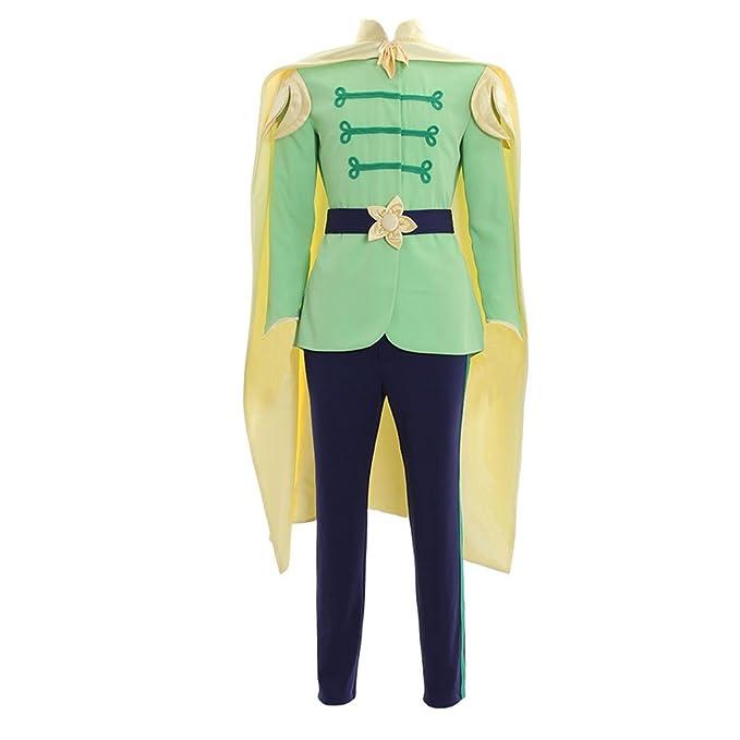Amazon.com: cosplaydiy hombre traje para el príncipe Naveen ...