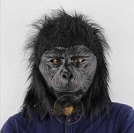 MONWSE Máscara de Cabeza de chimpancé de látex Máscara de Gorila ...