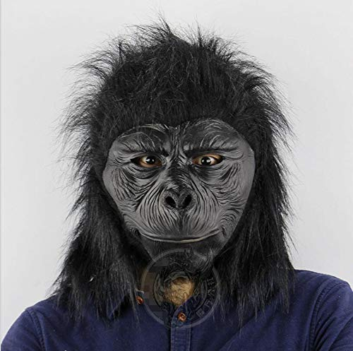 DeemoShop Latex Chimpanzee Head Mask Animal Gorilla Mask