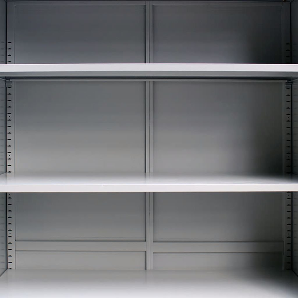 Gray SKB family Office Cabinet 35.4x15.7x55.1 Steel Gray Steel