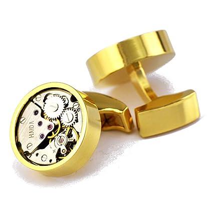 fd19b4a09566 Amazon.com  Xinmeitezhubao Mechanical Watch Movement Cufflinks ...