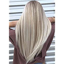 Full Shine 22 inch Tape in Hair 20 Pcs 50gram Per Set Tape Hair Extensions Color #14 Dark Golden Blonde Highlight With #60 White Blonde Full Head Remy Human Hair