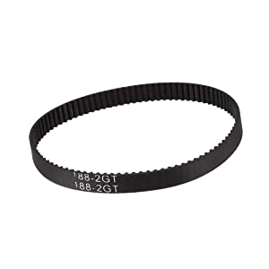 uxcell GT2 Timing Belt 188mm Circumference 6mm Width Closed Fit Synchronous Pulley Wheel for 3D Printer