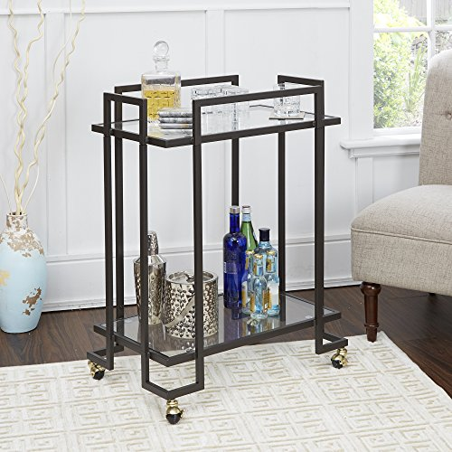 Silverwood Serving Cart, 16 L X 26 W X 33 H In In, Gold from Silverwood