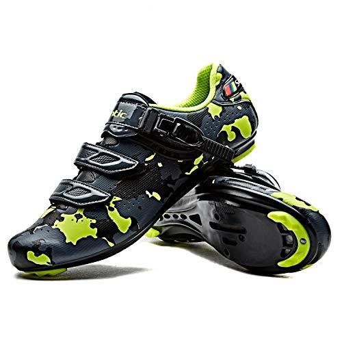 逃げる脚一般的なSantic メンズ SPD-SLシューズ ビンディングシューズ ロードバイクシューズ サイクリングシュ-ズ