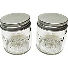 Cooking Concepts Mini Storage Jar with Lids - Mini Glass Mason Jars by Cooking Concepts