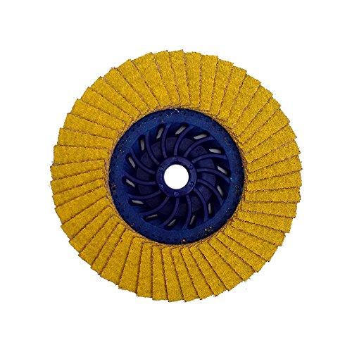 5//8-11 Arbor 40//60 Grit 13300 RPM 4-1//2 OD 5//8-11 Arbor Depressed 4-1//2 OD Taipan Abrasives TP-5404  Platinum Razor-Flap C3 Ceramic Disc